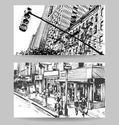City banner design elements set vector