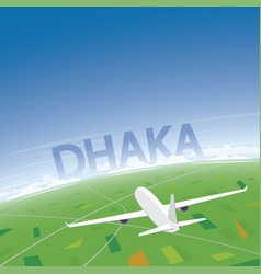 Dhaka flight destination vector