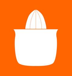 Juicer squeezer white icon vector