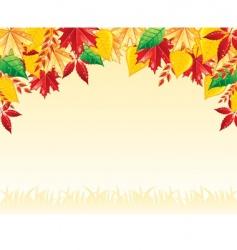 leaf back vector image vector image