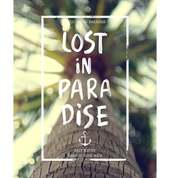Lost palm vector