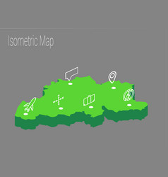 map belgium isometric concept vector image vector image