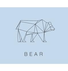 modern icon of Bear logotype design vector image vector image