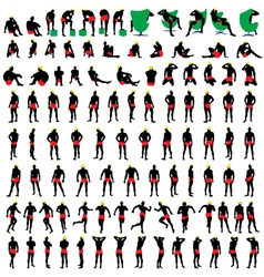 Nude mens silhouettes big vector