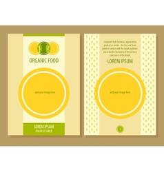 Organic food template flyer vector image vector image