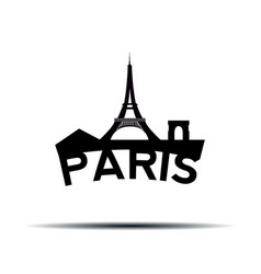 Paris cityscape vector
