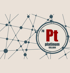 platinum chemical element vector image