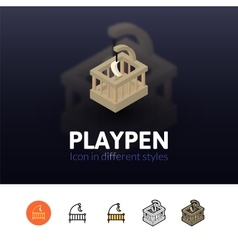 Playpen icon in different style vector