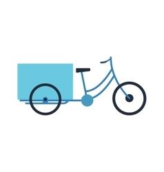 Rickshaw bike isolated vector