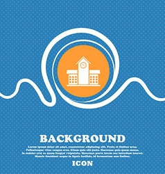 School professional icon sign blue and white vector