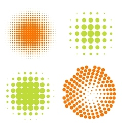 Set of Abstract Halftone Circles Logo vector image vector image