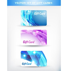 set of gift cards vector image