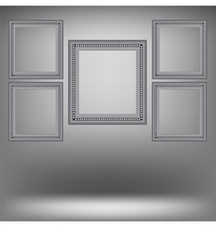 Set of wood grey frames vector