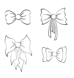 Set with Bows vector image vector image