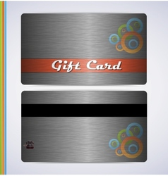 Steel gift card vector