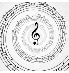 vector musical background vector image vector image