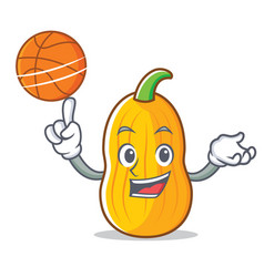 With basketball butternut squash character cartoon vector