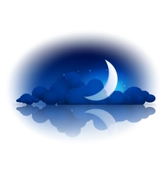 Moon and clouds vector