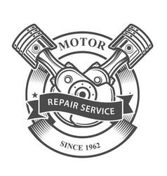 engine pistons on crankshaft - auto repair servic vector image