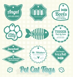 Pet Cat Name Tags vector image