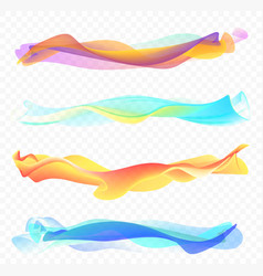 Abstract smooth wave set vector