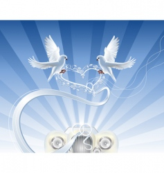 Wedding doves vector