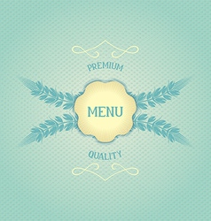 Design menu for restaurant vector