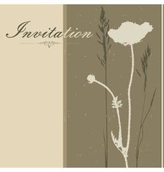 brown Invitation vector image