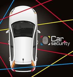 Car laser security vector