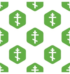 Orthodox cross pattern vector image