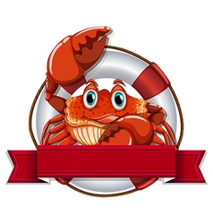 Crab and sign vector