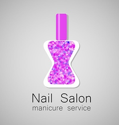 Nail salon logo vector