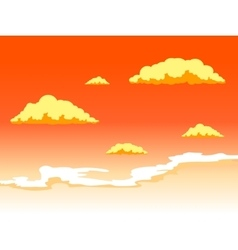 Sunset sky with clouds vector