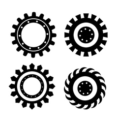 Set of gears vector