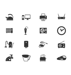 Home applicances simply icons vector