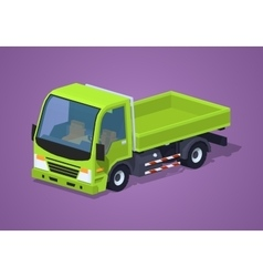 Empty green truck vector