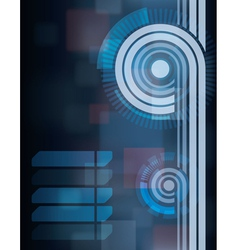 blue tech abstract background vector image