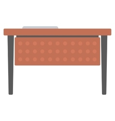 Wooden writing desk vector