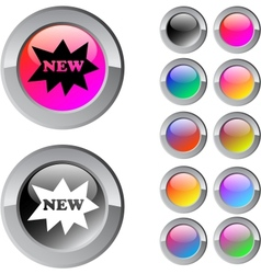 New multicolor round button vector image