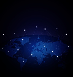 Network global over blue background vector