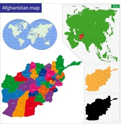 Afghanistan map vector image