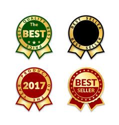 award ribbon the best vector image vector image