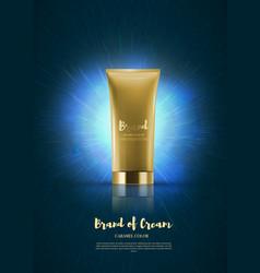 blank plastic cosmetic cream tubes eps10 vector image vector image