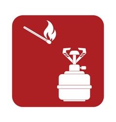 Burner matches icon vector
