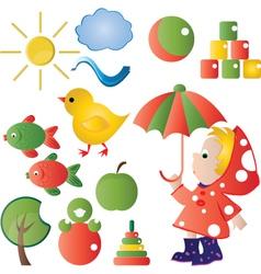 children graphic vector image vector image