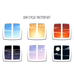 Day Cycle vector image vector image