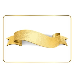 Gold ribbon foil on white 1 vector image vector image