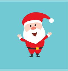 happy santa claus character flat style vector image vector image