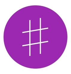 Hashtag symbol line icon vector