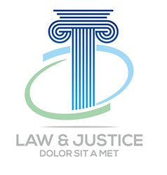 Logo Law Building and Justice Icon vector image